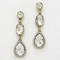 Crystal Geo Drop Earrings