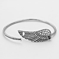 Vintage Metal Wing Hook Bracelet