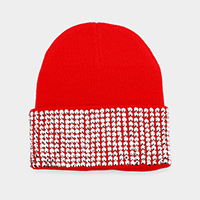 Bling Crystal Detail Beanie