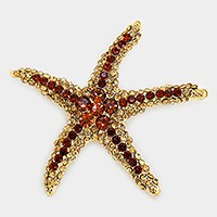 Pave Starfish Brooch
