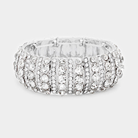 Marquise Crystal Mesh Evening Bracelet