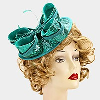 Sequined bow fascinator