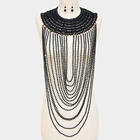 OversizedPearl Draped Necklace