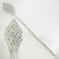 Iridescent Rhinestone Tail Scepter