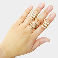 3 PCS - Coiled metal ring set