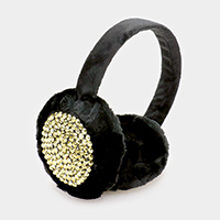 Studded Faux Fur Earmuff