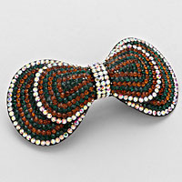 Pave Bow Hair Barrette