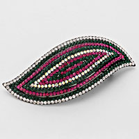 Pave Concentric Leaf Hair Barrette