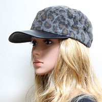 Leopard Polyester Fashion Hat