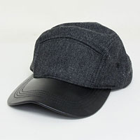 Adjustable Wool Herringbone Fashion Cap