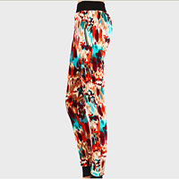 Thermal Polyester Fluid Print Leggings