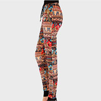 Thermal Polyester Floral Print Leggings