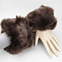Acrylic Faux Fur Arm Warmer Gloves