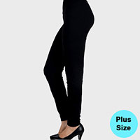 Plus Size Thermal Polyester Leggings