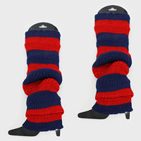 Game Day Acrylic Striped Leg Warmer