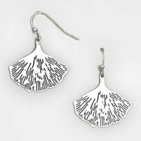 Ginkgo Filigree Earrings