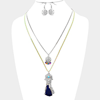 Evil Eye Pendant Necklace With Tassel