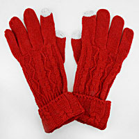 Rippled Acrylic Wool Touchscreen Gloves