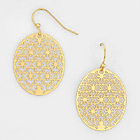 Oval Filigree Earrings