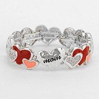 Heart Collage Stretch Bracelet