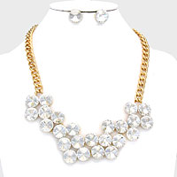 Bubbly Glass Clustered Necklace