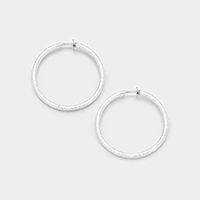 Hypoallergenic Clip Hoop Earrings