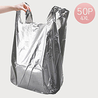 4x-Large Gray Plastic Bags