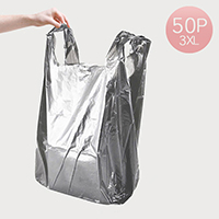 3X-LARGE Gray Plastic Bags