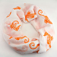 Seahorse Print Viscose Infinity Spring Scarf