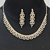 Radiant Rhinestone Collar Necklace
