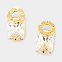 Cubic Zirconia Cryptic Earrings