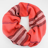 Plaid Polyester Infinity Scarf