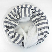 Crinkly Striped Polyester Scarf