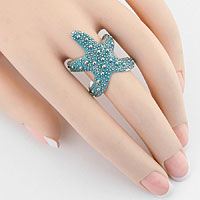 Resin Starfish Cuff Ring