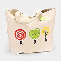 Eco green canvas bag