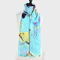 Butterfly Polyester Pareo/ Scarf