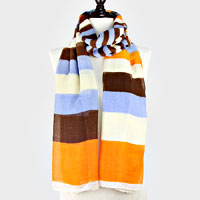 Funky Stripes Polyester Scarf
