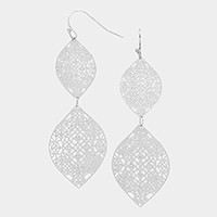 Double metal droplet earrings
