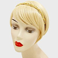 Twisted Rhinestone Chain Elastic Headband