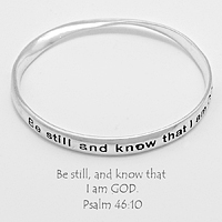 Bible Verse Twisted Bangle Bracelet