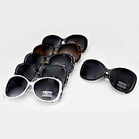 12 Pairs - Sqaure Frame Sunglasses