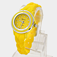 Twisted Silicone Rubber Band Watch