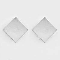 Square Metal Clip on Earrings