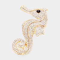 Seahorse Pave Pin Brooch
