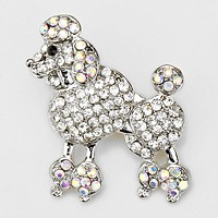 French Poodle Pin Brooch