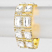 Smoothed Square Rhinestone Pave Evening Bracelet