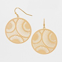 Metal Circle Drop Earrings