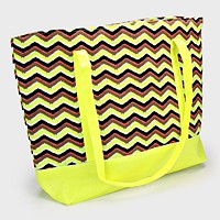 Zig Zag Pattern Fashion Bag