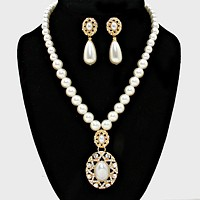 Crystal Accented Pearl Necklace