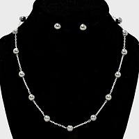 Pearl Station Necklace